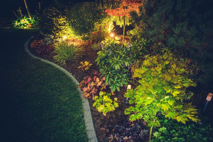 Sfeervolle tuinverlichting in de tuin